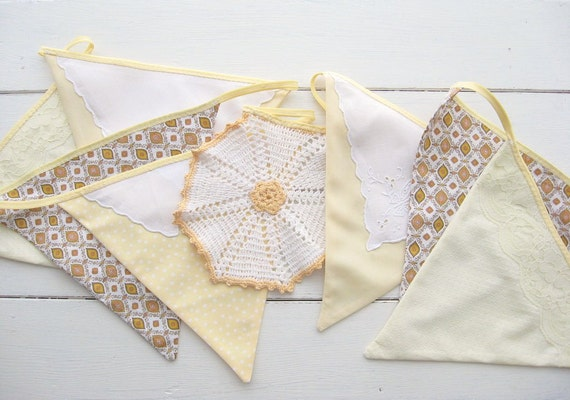 20% OFF SALE - sunny day yellow bunting