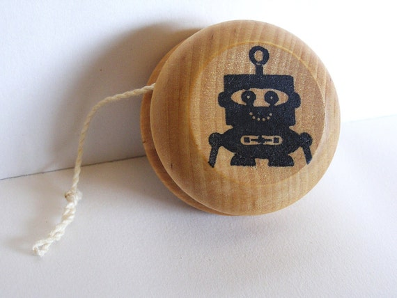 New- ROBOT- Wooden Yo-Yo