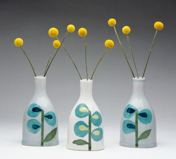 Turquoise Stem Vase