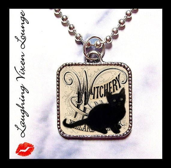 Black Cat Necklace Jewelry - Witch Necklace - Halloween Necklace - Witch Jewelry - Halloween Jewelry - Buy 2 Get 1 Free