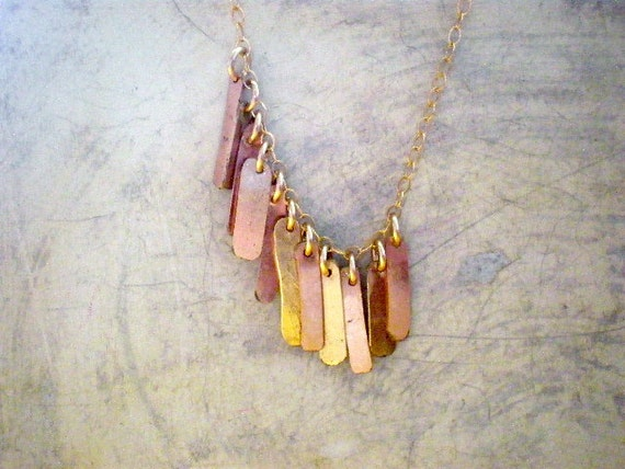 Eleven Gold Bar Necklace