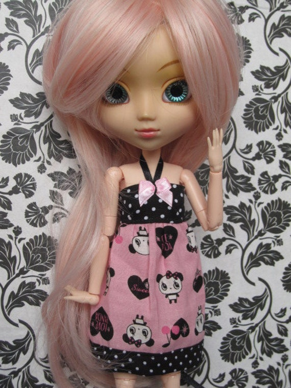 Pink and black dress for Pullip - Little Lénie