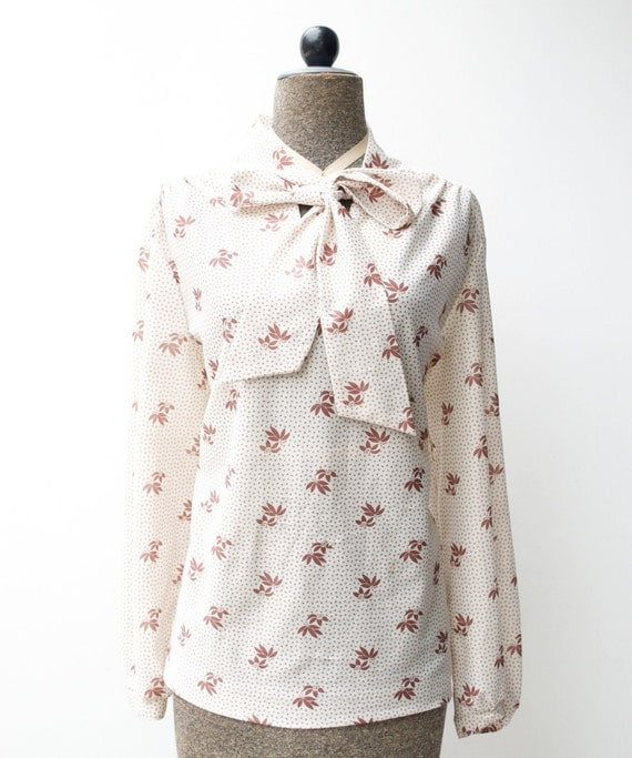 Vintage Shabby Chic Blouse...Womens Large or Extra Large...Christmas SALE