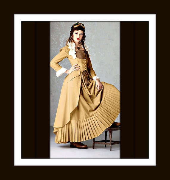 Custom 1800's Victorian Steampunk Ensemble - Jacket Bustier/Corset and Skirt - listing is for all sizes