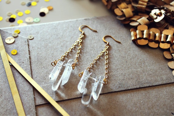 no. 456  Gold and Quartz Droplets