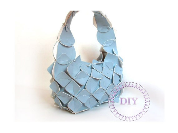 crafts for children-blue-handbag-girl-DIY KIT put&pull