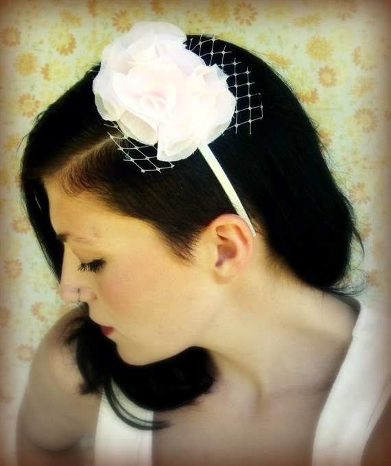 Bridal Chiffon Headband -Sweet Candy
