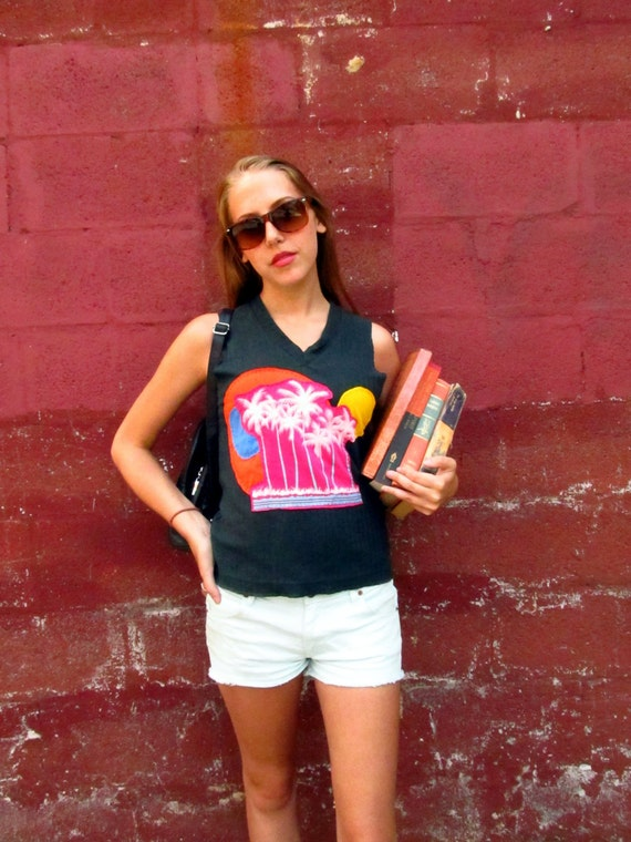 Upcycled Tank Back to School With Sunny Skies
