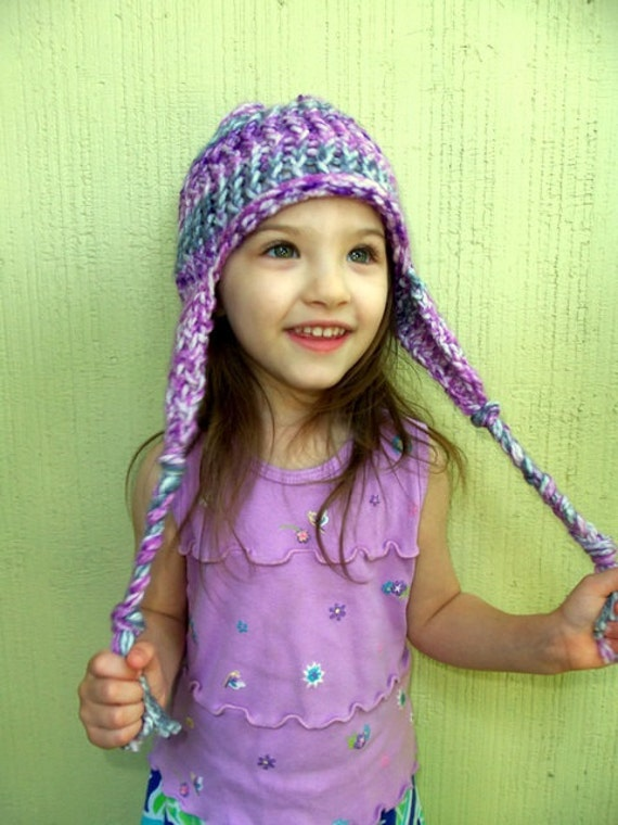 Free Braided Ear Flap Hat Knitting Pattern For Children