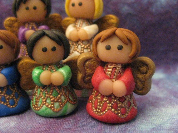 Christmas Angel Choir Polymer Clay