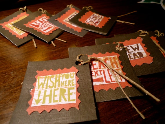 Vacationer Gift Tags (set of 8)
