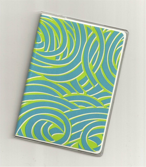 PASSPORT COVER  -  Uptown swirls -   cardstock and clear vinyl passport wallet  12a