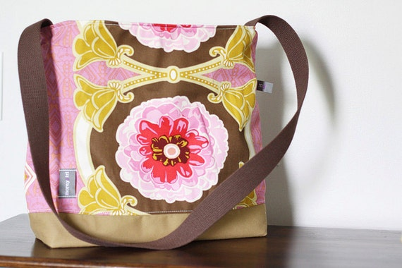 pink medallion tote