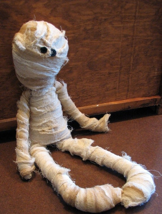 Raggedy Mummy Primitive Country Halloween Decoration Doll