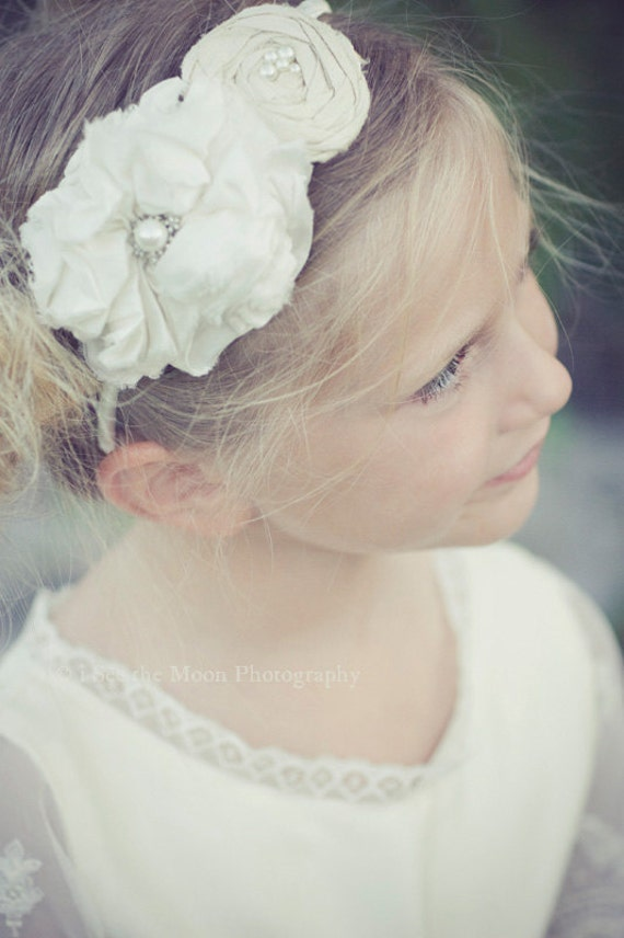 Rosebud Petite Flower Girl Headband