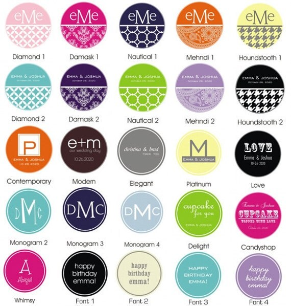 Cupcake Wrappers with Custom Labels- Set of 24