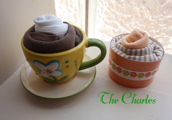 Baby boy apparel hot chocolate & cupcake set - free shipping