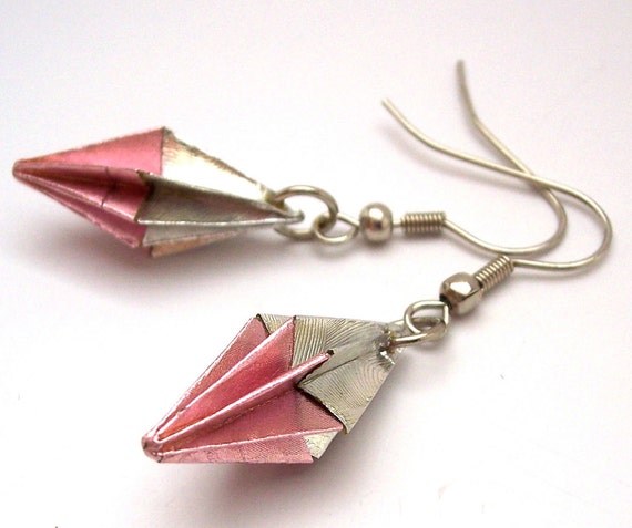 foldedjewels - origami earrings