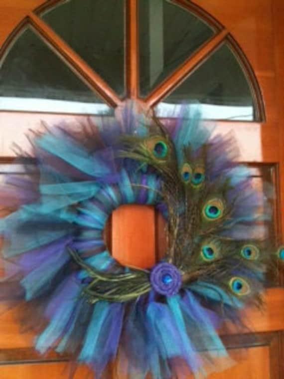 Diy Tulle Peacock Wreath Diy Show Off Diy Decorating