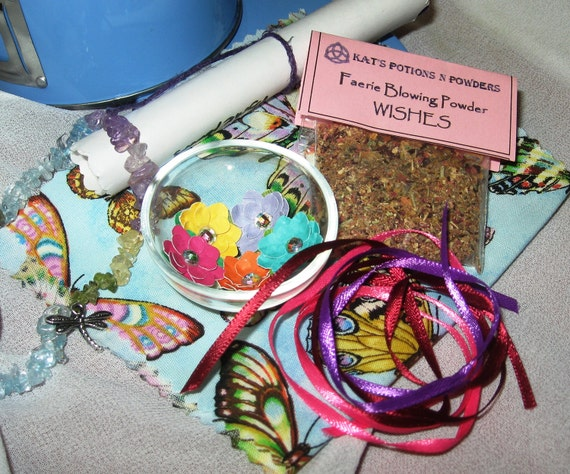Deluxe Faerie Spell and mini Altar kit with travel tin - OOAK
