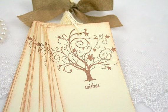 Wish Tree Wedding Tags Wishing Tree Tags Guest Book Alternative Vintage Tree