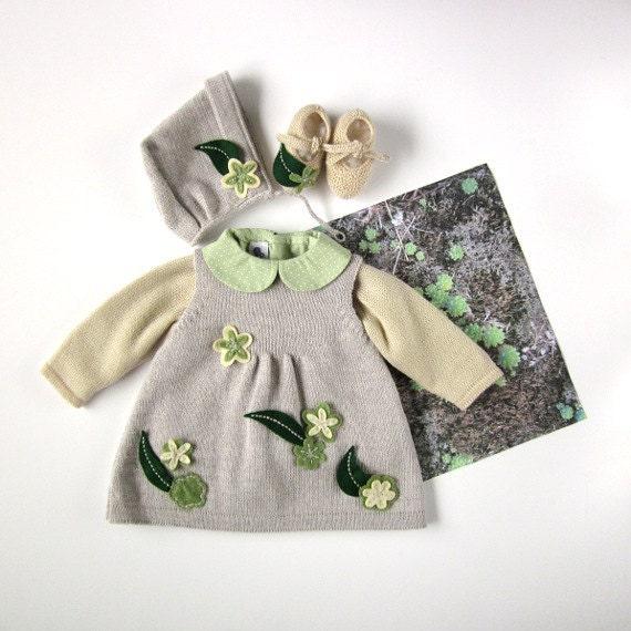 یک نوزاد کشباف پر گل برای دختر بچه