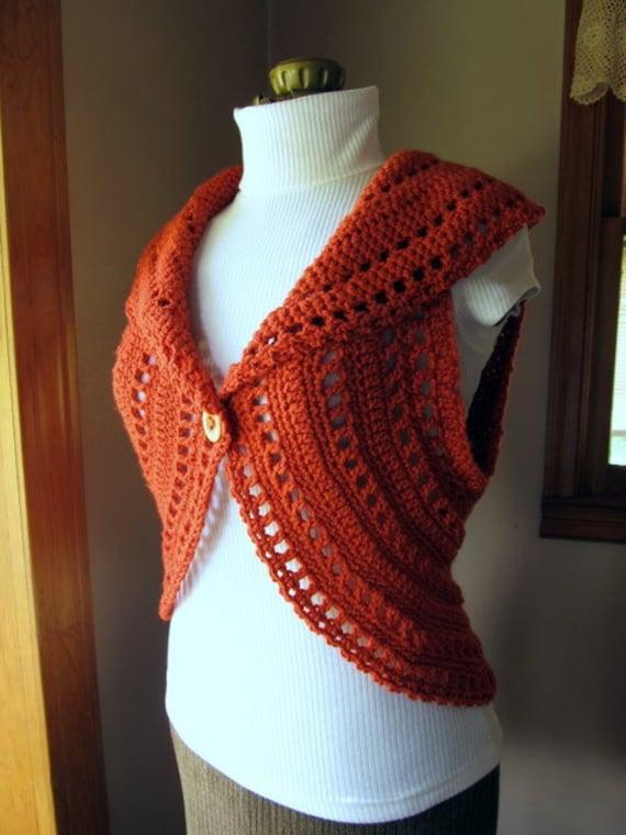 Crochet Pattern Circle Shrug Vest PDF Autumn Fashion DIY Tutorial