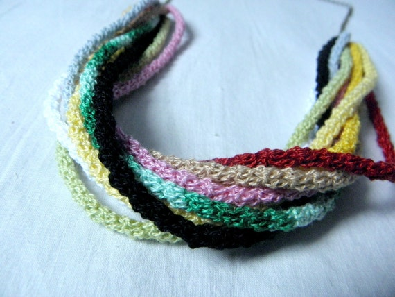 Crocheted necklace cords