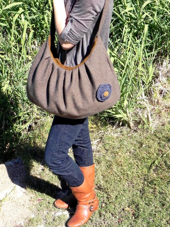 Wool Hobo Satchel