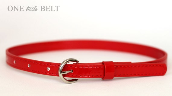 Toddler Girl's Belt- Red Patent Leather 6-12 months