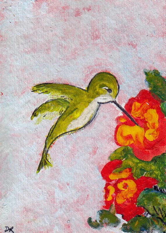 Hummingbird: Original ACEO