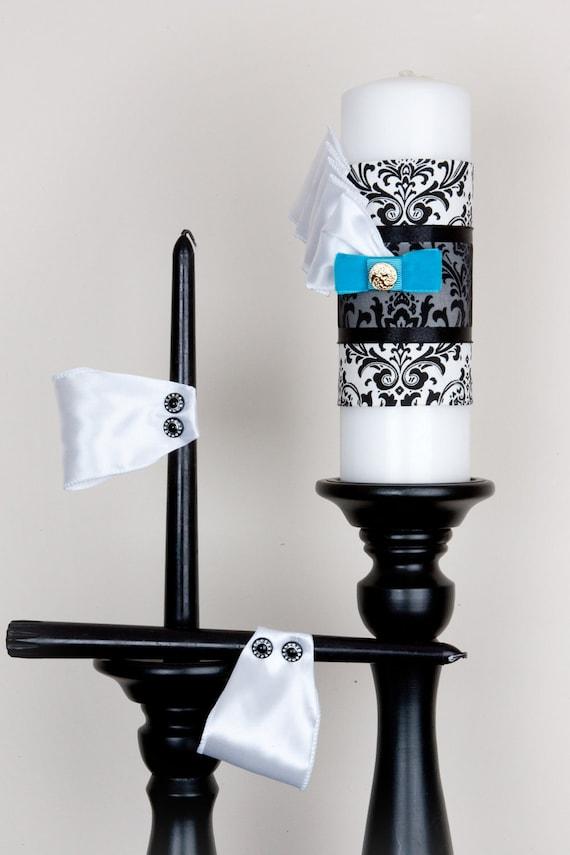 Установить единства Свеча - Что-то синий - Дамаск