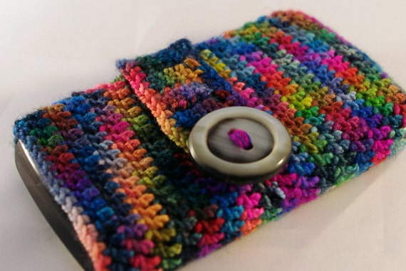 Phone case Blackberry Cover multicolored , pure wool, merino - cell phone cozy - free shipping
