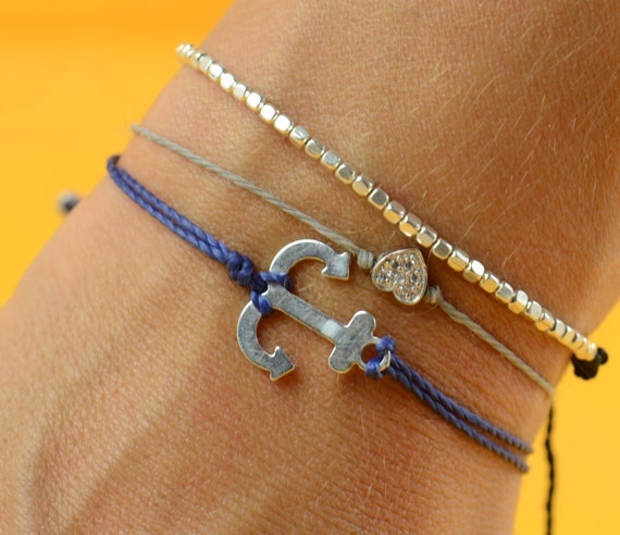 Anchor sterling silver  bracelet