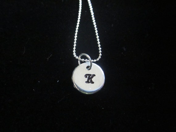 Custom Hand Stamped Initial Charm