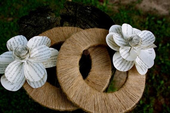 Свадебный потертый шик бумаги Цветок небольшой венок