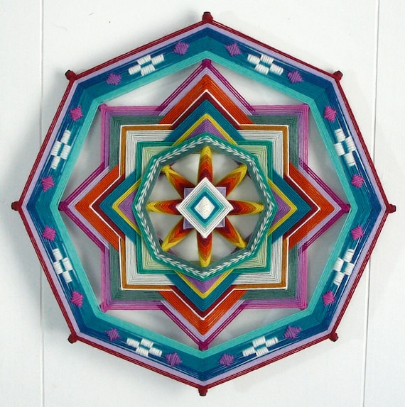 Painted desert, a 16 inch, all wool yarn Ojo de Dios