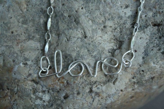 love Wire Wrapped Necklace