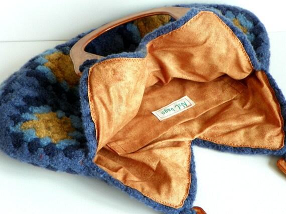 NzLbags-войлочная шерсть вязание крючком Бабушка площади Сумочка - Оттенки Замечательный Цвет - Nr-0202