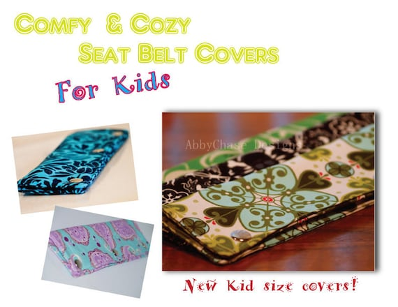 eBook Pattern.... Kid Size Seat Belt Covers for your Car...... by AbbyChase Designs