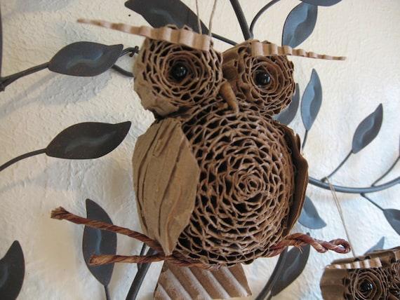 Картон сова орнамент малые