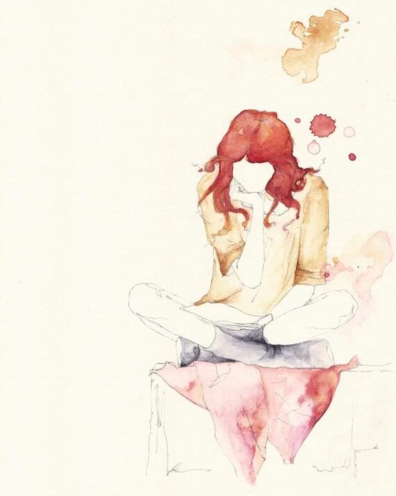 Girl Reading 8x10