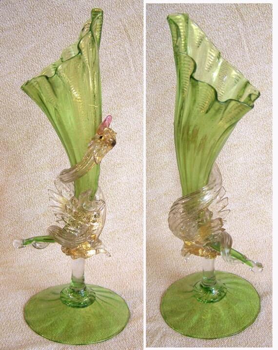 Swan Vase | Vintage Murano Art Glass