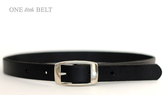 Leather Baby Boy's Dress Belt - Black 0-3 months