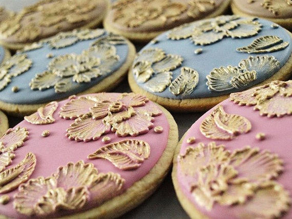 Gold Thread Cookies - Set of 6 Orange Vanilla Spice Cookies