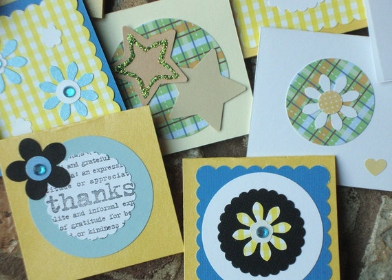 20 assorted Mini-Cards - Various Colours