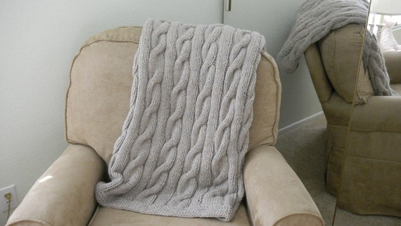 Cozy Cable Knit Blanket