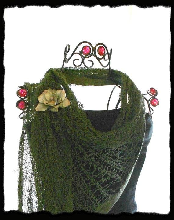 Лесной зеленый шарф Pixie Shredded цыганская чешская бесконечность шарф упаковка Fairy зеленый зеленый мох