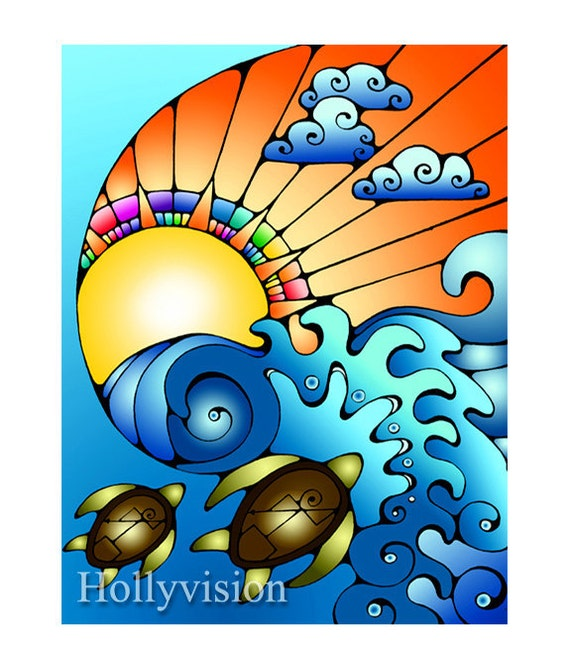 Surfing Teahupoo by HollyvisionArt on Etsy