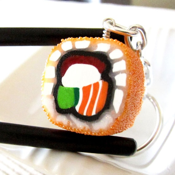 California Sushi Roll with Roe - keychain